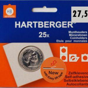 Hartberger munthouders zelfklevend; Ø 27,5 mm
