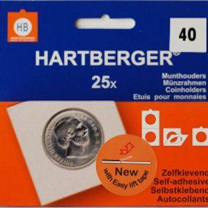 Hartberger munthouders zelfklevend; Ø 40 mm