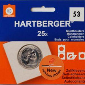 Hartberger munthouders zelfklevend; Ø 53 mm