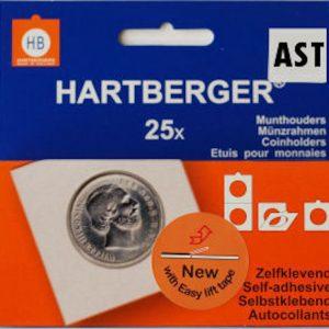 Hartberger munthouders zelfklevend; Assorti Ø 17,5 t/m 39,5 mm