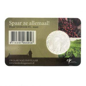 Nederland; 5 euro; 2010; Het Max Havelaar Vijfje in Coincard (UNC)