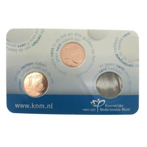Nederland; 1 cent; 2015; Fluitje van 1 cent Coincard