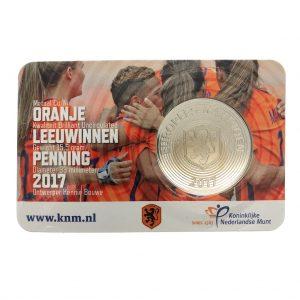 Nederland; Penning; 2017; Oranje Leeuwinnen in Coincard (BU)