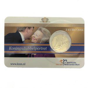 Nederland; 2 euro; 2014; Koningsdubbelportret in Coincard (BU)