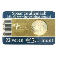 Nederland; 5 euro; 2005; Het Vredes Vijfje in Coincard (UNC)