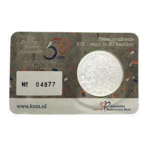 Nederland; 10 euro; 2017; Verjaardagstientje in Coincard (BU)