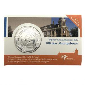 Nederland; 5 euro; 2011; 100 jaar Muntgebouw Vijfje in Coincard + Minimagazine (UNC)