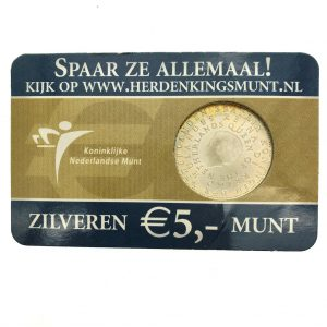 Nederland; 5 euro; 2006; De Koninkrijksmunt in Coincard (UNC)